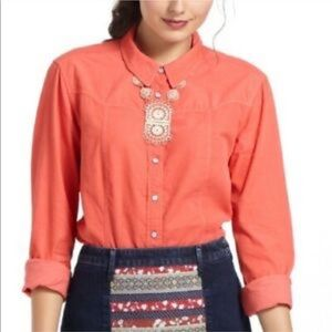Holding horses fine wale cord shirt Pearl Button